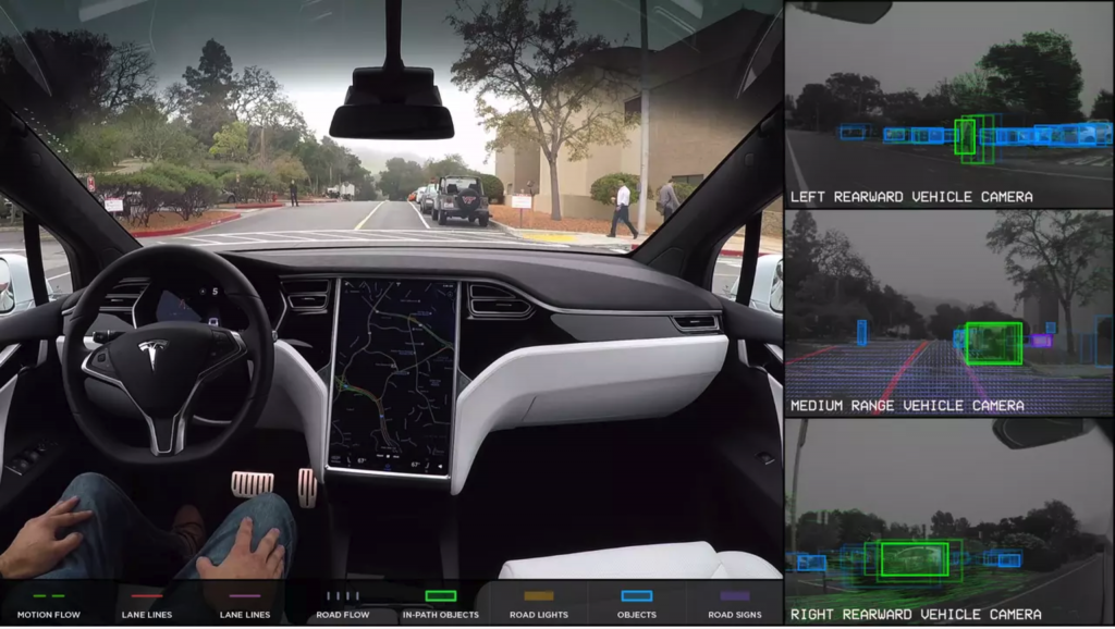 Tesla Model X Self Driving