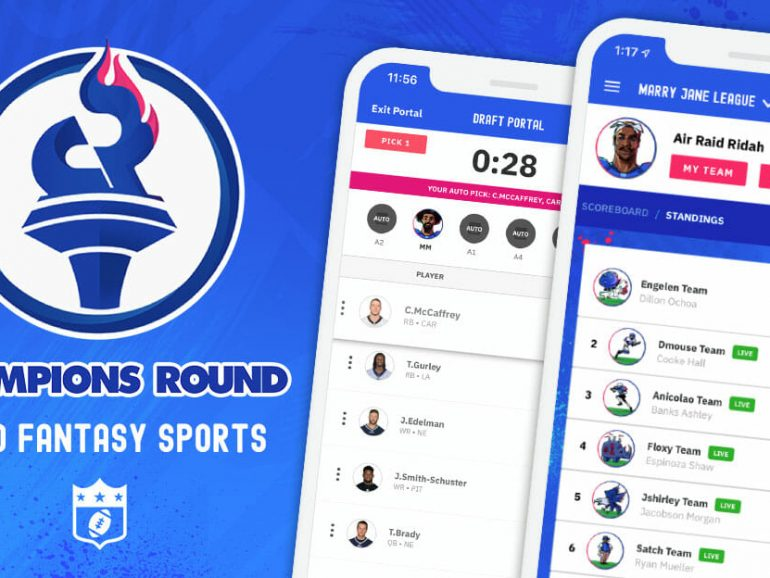 "Breathe life into your NFL fantasy football leagues this season with Champions Round — the first-ever ""micro"" fantasy sports app"